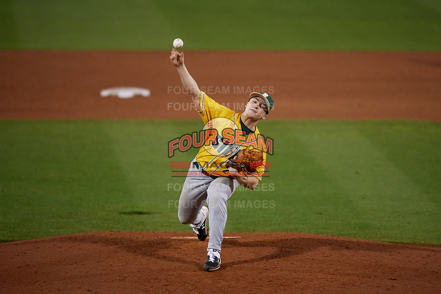 Siena Saints pitcher Avery Short (27) during a game against the UCF Knights on February 14, 2020 at John Euliano Park in Orlando, Florida.  UCF defeated Siena 2-1.  (Mike Janes/Four Seam Images)