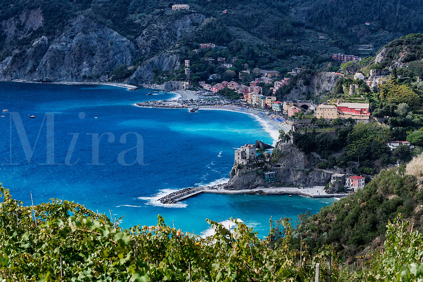 Scenic overview of the charming seaside village of Monterosso al Mare.
