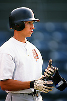Cody Ransom of the Bakersfield Blaze during a California League baseball game circa 1999. (Larry Goren/Four Seam Images)