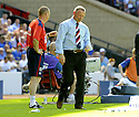 31/05/2009  Copyright  Pic : James Stewart.sct_jspa_50_rangers_v_falkirk.FALKIRK MANAGER JOHN HUGHES AND ASSISTANT BRIAN RICE DURING THE GAME.James Stewart Photography 19 Carronlea Drive, Falkirk. FK2 8DN      Vat Reg No. 607 6932 25.Telephone      : +44 (0)1324 570291 .Mobile              : +44 (0)7721 416997.E-mail  :  jim@jspa.co.uk.If you require further information then contact Jim Stewart on any of the numbers above.........