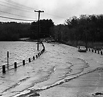Flooding of Route 202 in Morris, April 1987.