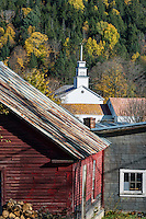 Charming rustic village of Topsham, Vermont, USA.