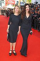 Nicole Garcia et Maïwenn sur le tapis rouge pour la soirée dans le cadre de la journée anniversaire de la 70e édition du Festival du Film à Cannes, Palais des Festivals et des Congres, Cannes, Sud de la France, mardi 23 mai 2017.