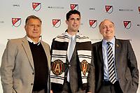 Philadelphia, PA - Thursday January 19, 2018: Oliver Shannon, Gerardo Martino, Paul McDonough during the 2018 MLS SuperDraft at the Pennsylvania Convention Center.