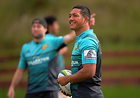 Malo Tuitama. Hurricanes rugby union training at Rugby League Park in Wellington, New Zealand on Wednesday, 19 April 2017. Photo: Dave Lintott / lintottphoto.co.nz