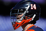Face-Off Classic: Cavaliers Helmet during the Virginia v Cornell mens lacrosse game at M&T Bank Stadium on March 10, 2012 in Baltimore, Maryland. (Ryan Lasek/Eclipse Sportswire)