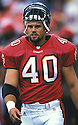 Tampa Bay Buccaneers, Mike Alstott (40) during a game from his 2000 season. Mike Alstott played for 11 years all with the Buccaneers and was a 6-time Pro-Bowler.