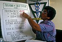 Palestra sobre saúde. Cidade do Panamá. 1990. Foto de Nair Benedicto.