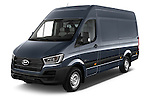 2015 Hyundai H350 Travel Plus Pack 4 Door Cargo Van 2WD Angular Front stock photos of front three quarter view