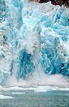 Alaska, Glacier Bay National Park, glacier calving, John Hopkins Glacier, Southeast Alaska, North America,.