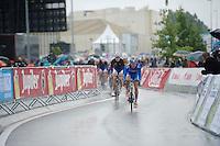 Nico Sijmens (BEL/Wanty-Groupe Gobert) leading the peloton<br /> <br /> Belgian Championships 2014 - Wielsbeke<br /> Elite Men
