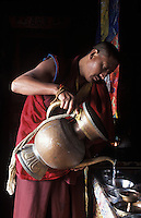 Tibet, Kham<br /> Monks, Kandze monastery.