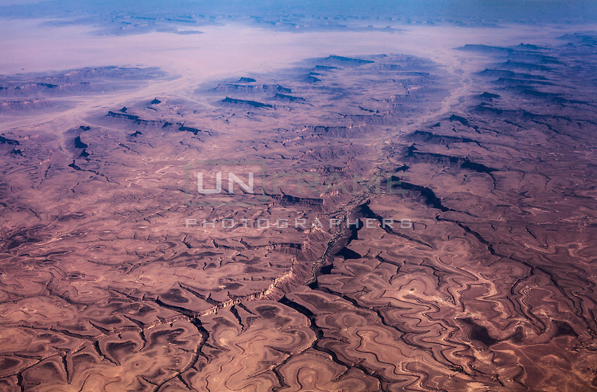 Aerial view of the vast harsh lands in Hadramawt province.