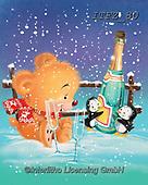 Fabrizio, Comics, CHRISTMAS ANIMALS, WEIHNACHTEN TIERE, NAVIDAD ANIMALES, paintings+++++,ITFZ80,#xa# ,sticker,stickers