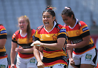 Waikato performs a haka during the Farah Palmer Cup women's rugby union match between Auckland Storm and Waikato at Eden Park in Auckland, New Zealand on Sunday, 18 October 2020. Photo: Dave Lintott / lintottphoto.co.nz