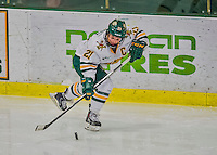 14 February 2015: University of Vermont Catamount Forward Amanda Pelkey, a Senior from Montpelier, VT, in third period action against the University of New Hampshire Wildcats at Gutterson Fieldhouse in Burlington, Vermont. The Lady Catamounts rallied from a 3-1 deficit to earn a 3-3 tie in the final home game of their NCAA Hockey East season. Mandatory Credit: Ed Wolfstein Photo *** RAW (NEF) Image File Available ***