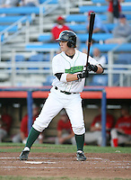 Jameson Smith of the Jamestown Jammers, Class-A affiliate of the Florida Marlins, during New York-Penn League baseball action.  Photo by Mike Janes/Four Seam Images
