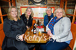 Enjoying the evening in Reidy's in Killarney on Saturday, l to r: Elaine Coughlan, Denise, Mary and Gabrielle Quinlan from Rockchapel.