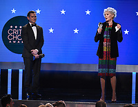 SANTA MONICA, CA - JANUARY 12: Jean Smart accepts the Best Supporting Actress in a Drama Series award for 'Watchmen'  onstage at the 25th Annual Critics' Choice Awards at the Barker Hangar on January 12, 2020 in Santa Monica, California. (Photo by Frank Micelotta/PictureGroup)