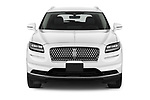 Car photography straight front view of a 2021 Lincoln Nautilus Standard 5 Door SUV Front View