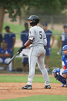 Wilfred Veras (5) of the ACL White Sox during a game against the ACL Dodgers on September 18, 2021 at Camelback Ranch in Phoenix, Arizona. (Tracy Proffitt/Four Seam Images)
