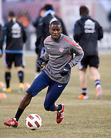 Maurice Edu. The USMNT tied Argentina, 1-1, at the New Meadowlands Stadium in East Rutherford, NJ.