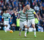 Leigh Griffiths celebrates his goal with Scott Brown