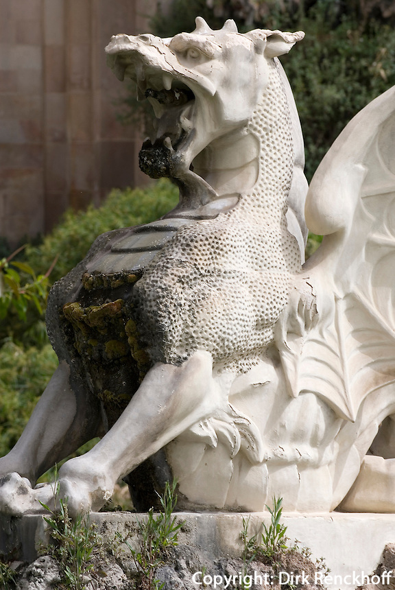Spanien, Barcelona, Große Kaskade im Parc de la Ciutadella, Detail