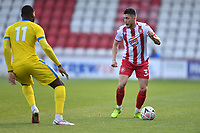 Ben Coker of Stevenage FC and Temi Babalola of Concord Rangers FC during Stevenage vs Concord Rangers , Emirates FA Cup Football at the Lamex Stadium on 7th November 2020