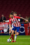 Victor Machin, Vitolo (L), of Atletico de Madrid fights for the ball with Julian Omar Ramos Suarez, Omar R, of CD Leganes during the La Liga 2017-18 match between Atletico de Madrid and CD Leganes at Wanda Metropolitano on February 28 2018 in Madrid, Spain. Photo by Diego Souto / Power Sport Images