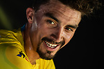 Julian Alaphilippe (FRA) Deceuninck-Quick Step retains the Yellow Jersey at the end of Stage 11 of the 2019 Tour de France running 167km from Albi to Toulouse, France. 17th July 2019.<br /> Picture: ASO/Alex Broadway   Cyclefile<br /> All photos usage must carry mandatory copyright credit (© Cyclefile   ASO/Alex Broadway)