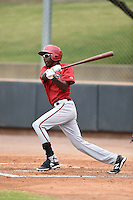 Arizona Diamondbacks outfielder Marcus Wilson (8) during an Instructional League game against the Colorado Rockies on October 8, 2014 at Salt River Fields at Talking Stick in Scottsdale, Arizona.  (Mike Janes/Four Seam Images)