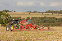 15-10-2021 Direct drilling Gleam Winter wheat in Rutland <br />  ©Tim Scrivener Photographer 07850 303986<br />      ....Covering Agriculture In The UK....