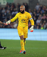 Pictured: Tim Howard goalkeeper for Everton.Tuesday 23 September 2014<br /> Re: Capital One Cup, Swansea City FC v Everton at the Liberty Stadium, south Wales, UK