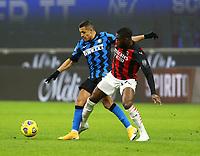 Milano  26-01-2021<br /> Stadio Giuseppe Meazza<br /> Coppa Italia Tim 2020/21<br /> Inter - Milan nella foto: Alexis Sanchez Inter Fc Tomori                                                         <br /> Antonio Saia Kines Milano