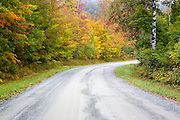 Northeast Kingdom - Autumn foliage along Victory Road in Victory, Vermont USA