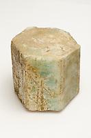 Beryl, large hexagonal crystal, approximately 15 cm tall. Acworth, New Hampshire, USA.