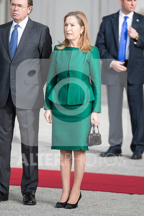 President of the congress, Ana Pastor during state visit of the president of Argentinian Republic, Sr. Mauricio Macri and Sra Juliana Awada at Real Palace in Madrid, Spain. February 19, 2017. (ALTERPHOTOS/BorjaB.Hojas)