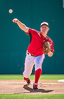 16 March 2014: Washington Nationals pitcher Jordan Zimmermann on the mound during a Spring Training Game against the Detroit Tigers at Space Coast Stadium in Viera, Florida. The Tigers edged out the Nationals 2-1 in Grapefruit League play. Mandatory Credit: Ed Wolfstein Photo *** RAW (NEF) Image File Available ***