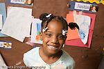 Preschool ages 3-5 closeup portrait of smiling girl horizontal