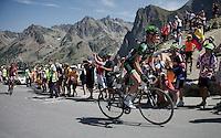 Thomas Voeckler (FRA/Europcar) up the Col du Tourmalet (HC/2115m/17km/7.3%)<br /> <br /> st11: Pau - Cauterets (188km)<br /> 2015 Tour de France