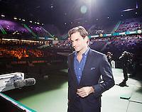 11-02-13, Tennis, Rotterdam, ABNAMROWTT, Opening of ABN AMRO WTT with Roger Federer