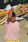 Man Carring Wood