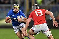 Angelo Esposito Italy, Jonathan Davies Wales.<br />  <br /> Roma 9-02-2019 Stadio Olimpico<br /> Rugby Six Nations tournament 2019  <br /> Italy - Wales <br /> Foto Antonietta Baldassarre / Insidefoto