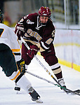 """19 January 2007: Boston College defenseman Tim Kunes from Huntington, NY, in action during a Hockey East matchup against the University of Vermont at Gutterson Fieldhouse in Burlington, Vermont. The UVM Catamounts defeated the BC Eagles 3-2 before a record setting 50th consecutive sellout at """"the Gut""""...Mandatory Photo Credit: Ed Wolfstein Photo."""