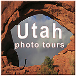 annotated photo, Arches National Park, home page button, Utah, web button, woman photographer, woman taking photo