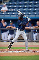 Montgomery Biscuits Lucius Fox (1) at bat during a Southern League game against the Biloxi Shuckers on May 8, 2019 at MGM Park in Biloxi, Mississippi.  Biloxi defeated Montgomery 4-2.  (Mike Janes/Four Seam Images)