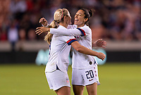 Christen Press #20 of the United States celebrates with Lindsey Horan #9