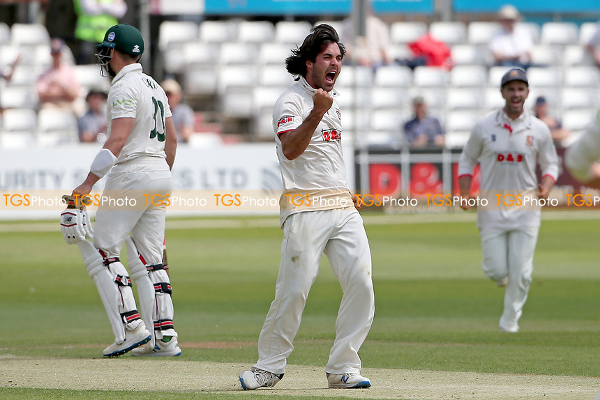 Shane Snater of Essex celebrates taking the wicket of Ben Slater during Essex CCC vs Nottinghamshire CCC, LV Insurance County Championship Group 1 Cricket at The Cloudfm County Ground on 3rd June 2021