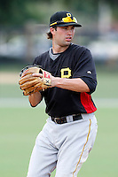 July 13, 2009:  Third Baseman Neil Walker of the GCL Pirates during a game at Tiger Town in Lakeland, FL.  The GCL Pirates are the Gulf Coast Rookie League affiliate of the Pittsburgh Pirates.  Photo By Mike Janes/Four Seam Images
